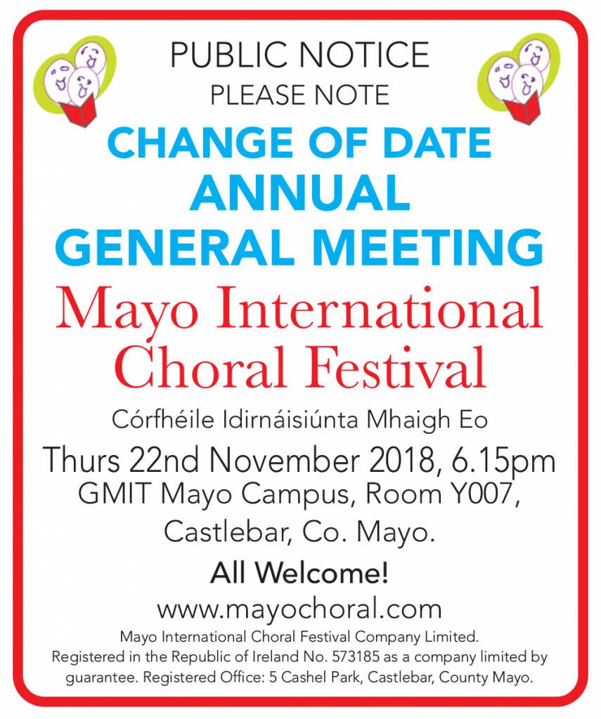 mayo choral festival agm notices